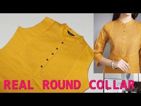 Kurti Collar Neck Cutting Simple   Easy Method - Cutting   Stitching  tutorial 1186c65a2