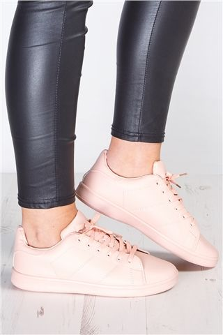 Grace Nude Trainers at misspap.co.uk