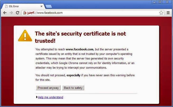 Facebook discovered fake Digital Certificates while observing SSL connections