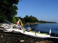 Tulamben Beach ve městě Karangasem, Bali