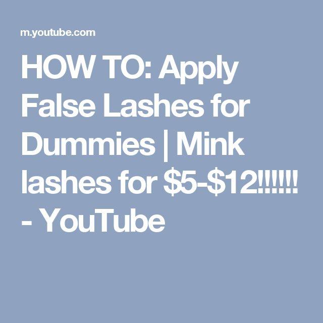 how to put on false lashes youtube
