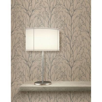 Fine decor delamere copper grey wallpaper copper grey for Wallpaper homebase grey