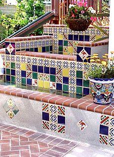 Field Fountain   Talavera tile design