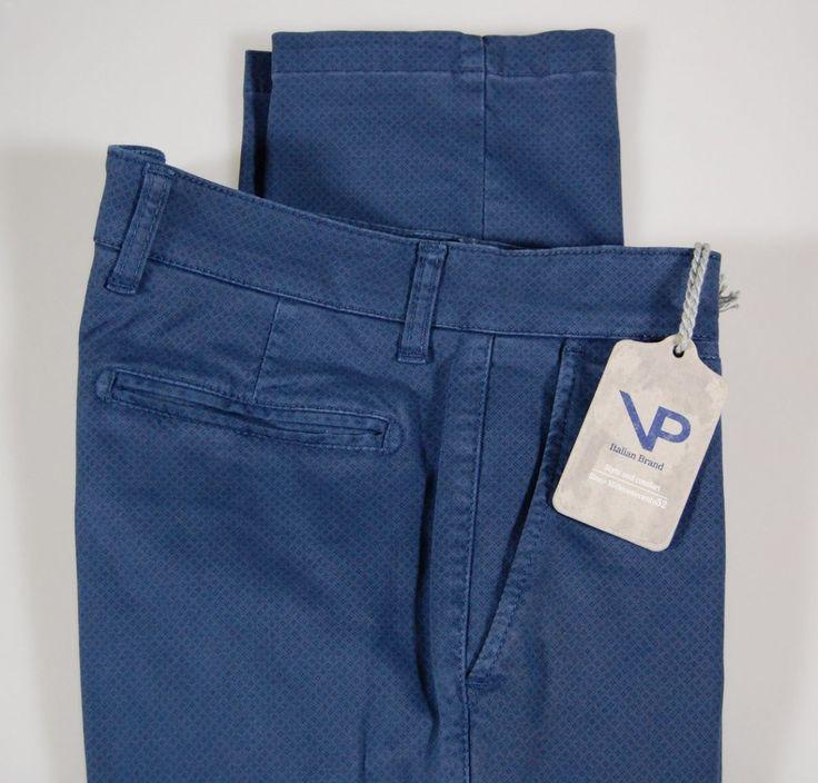 Slim fit stretch cotton pants viapiana tiny patterns