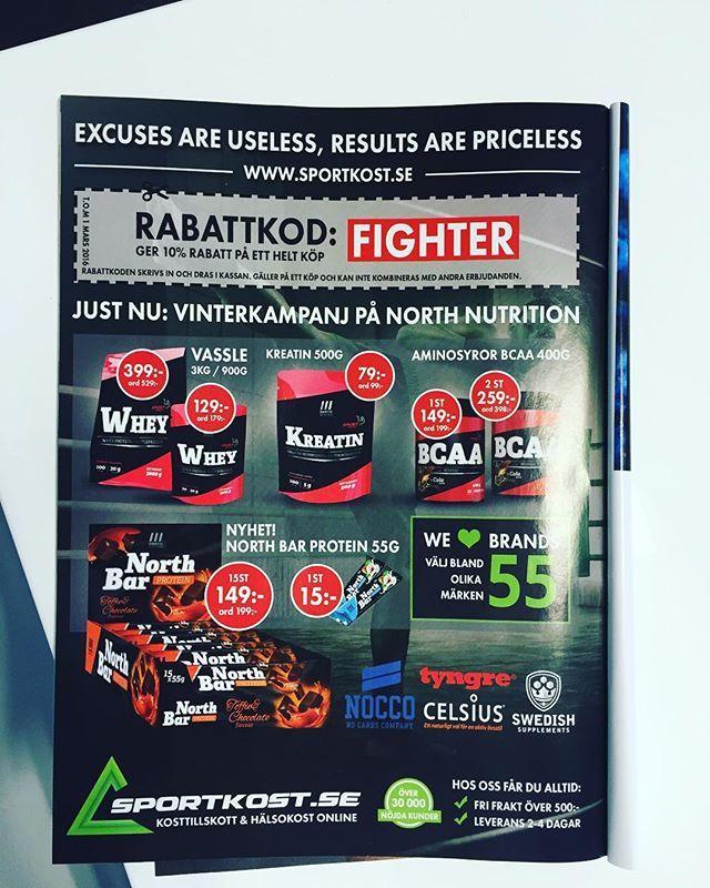 Sportkost syns i #fightermagazine  #sportkost #annons #tidning #northnutrition #fighter #rabattkod #januari