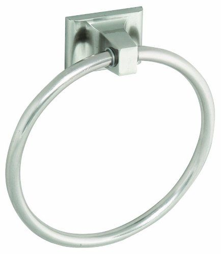 Design House 539163 Millbridge Towel Ring, Satin Nickel - The Design House 539163 Millbridge Towel Ring is a classic addition to any bathroom. This traditional towel ring is constructed with zinc and aluminum, finished in satin nickel and measures 6-inches. This ring has squared details and a sturdy design for hanging small to medium sized towels. You c...