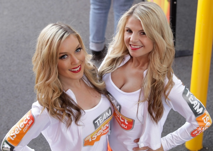 Gorgeous Team Select pitlane and grid girls