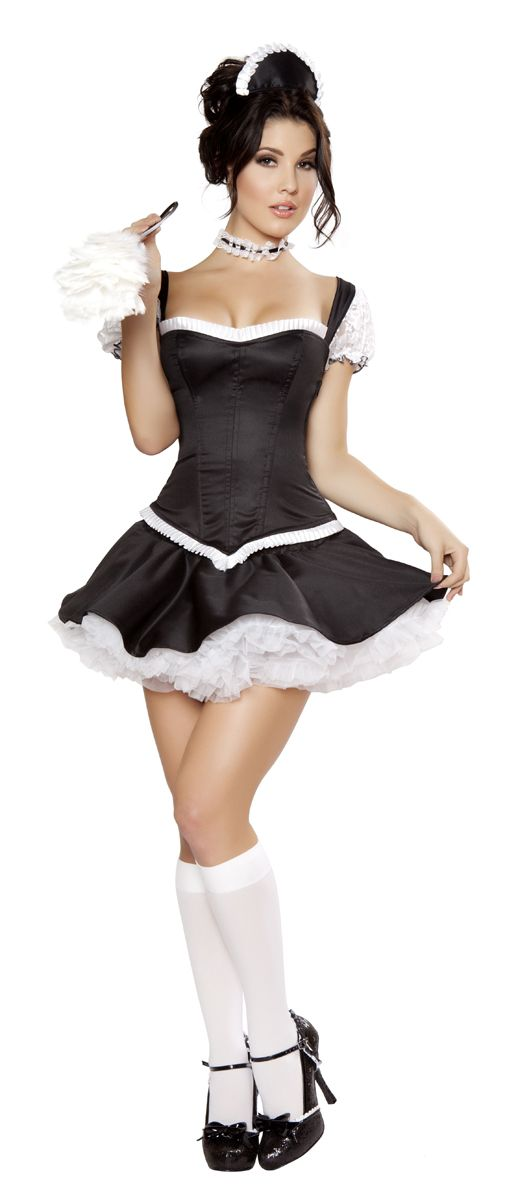 Women in french maids outfit nude — pic 11