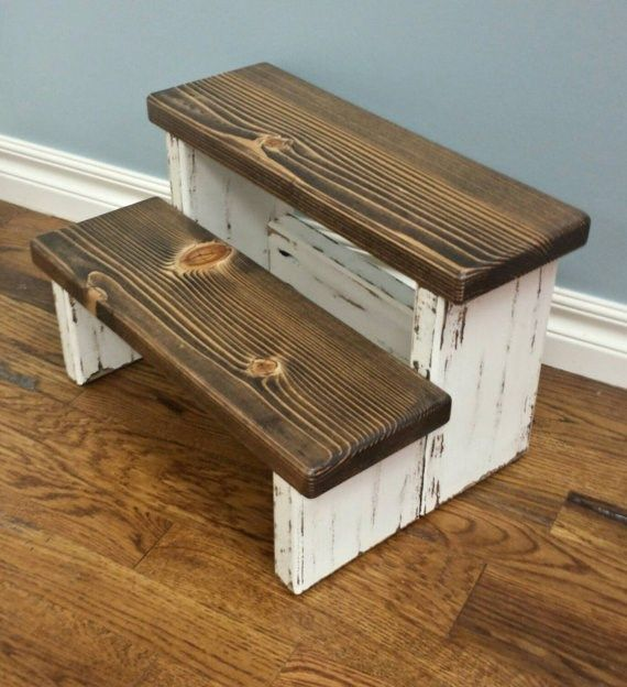 Farmhouse Step Stool {I could make this, easy-peasy ~S}
