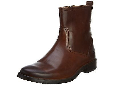Frye Oliver Inside Zip Boots Mens 87908-DBN Brown Leather Boots Shoes Size 10.5