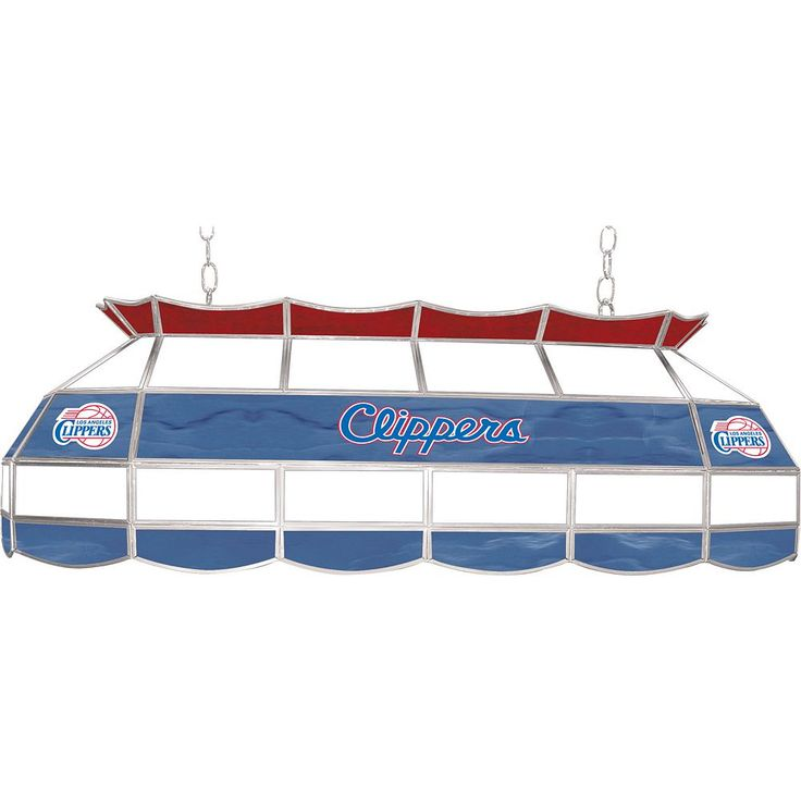 """Los Angeles Clippers 40"""" Tiffany-Style Lamp, Multicolor"""