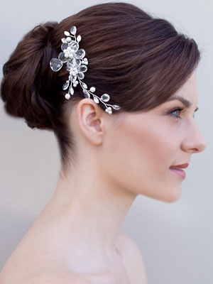 Swarovski Crystal Flower Hair Comb