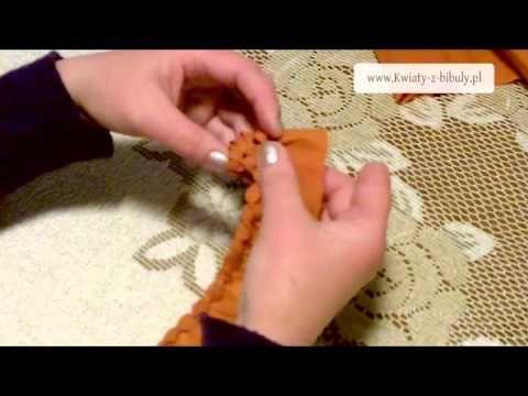 Świąteczne stroiki – kurs | Kwiaty z bibuły | Como hacer pi~nas en papel crepe