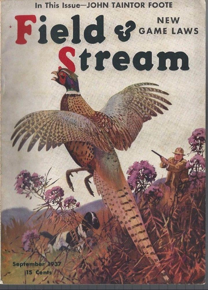 FIELD AND STREAM MAGAZINE SEPTEMBER 1937 LYNN BOGUE HUNT