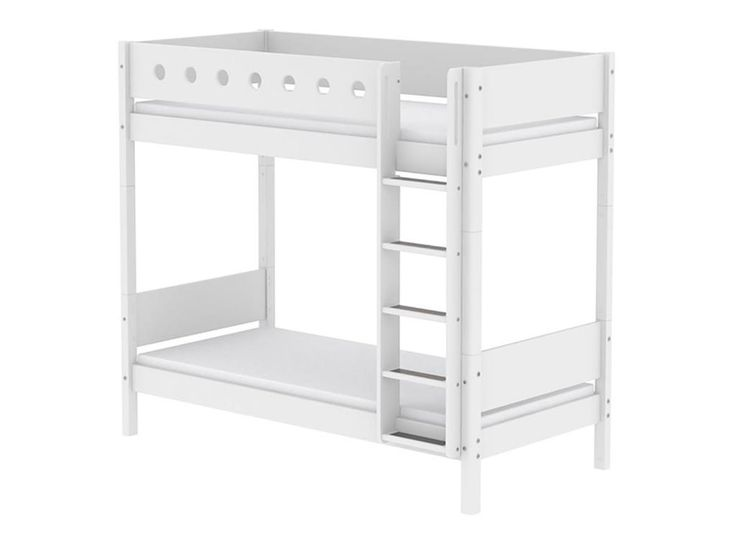 Etagenbett 90x190cm Höhe 183,5cm Gerader Leiter, Weiß, Flexa White, inkl. Lattenrost, umbaubar und erweiterbar Jetzt bestellen unter: https://moebel.ladendirekt.de/kinderzimmer/betten/etagenbetten/?uid=e0adbdf8-60b3-5654-a300-821dda68e8d2&utm_source=pinterest&utm_medium=pin&utm_campaign=boards #etagenbetten #kinderzimmer #etagenbett #white #flexa #betten