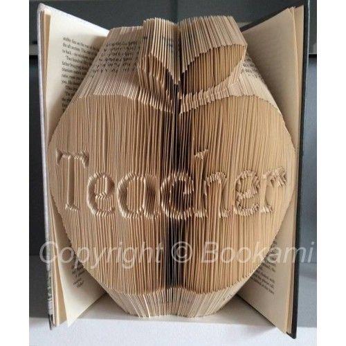 Apple For The Teacher - Book Folding Pattern Book Folding Patterns / Templates and Book Folding Software on Bookami®