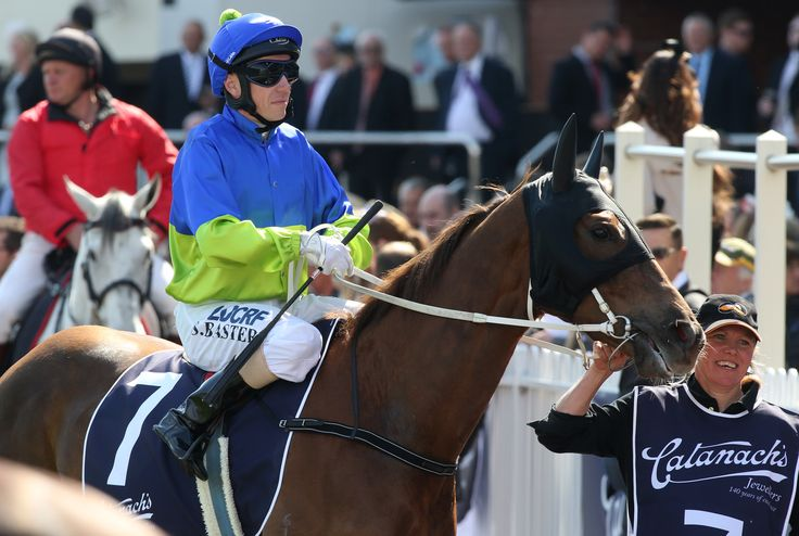 Stephen Baster returns to scale on Eloping after winning the Blue Sapphire Stakes.