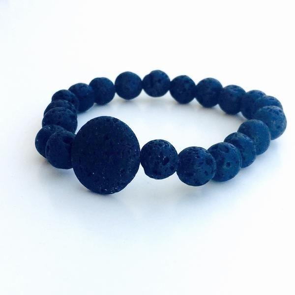Men's Lava Stone Mosquito Repellent Bracelet – Moskiitto