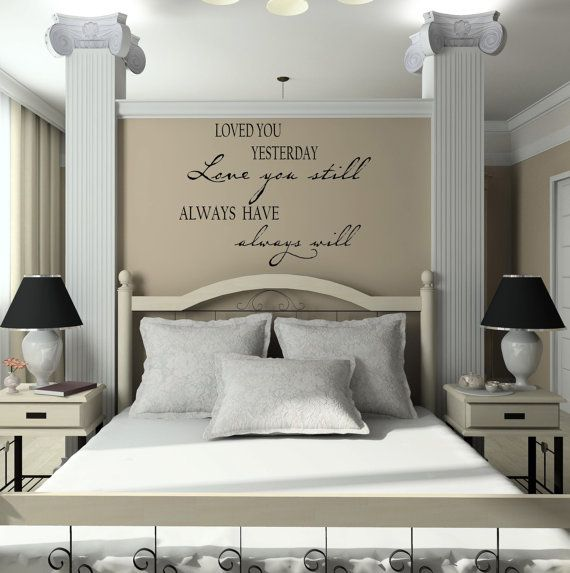 23 best Master Bedroom Wall Decals images on Pinterest | Bedroom ...