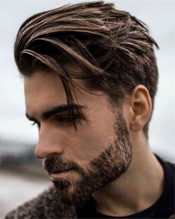 Mittellanges Braunes Haar Frisuren 2018 Mann Frisuren Frisuren