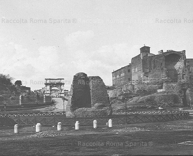 Meta Sudante e Arco di Tito Anno: 1910 ca