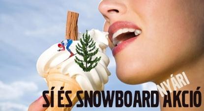 Üzletünkben a nyári szezonban hihetetlenül kedvező áron vásárolhatók meg a sízés és snowboardozás elengedhetetlen kellékei.