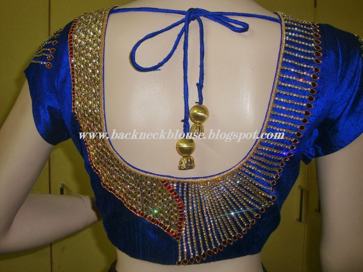 south bridal pattu blouse back designs - Google Search