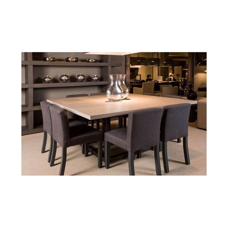 Table haute de salle a manger zoe 800 800 for Table carree 8 couverts