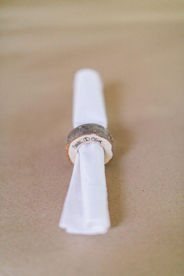 anel de madeira guardanapos