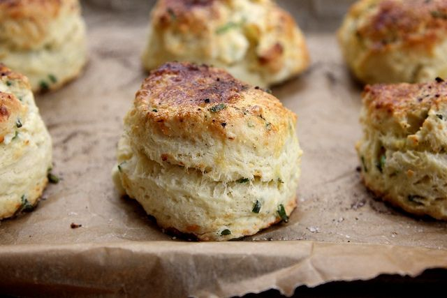 Feta and Chive Sour Cream Scones - Joy the Baker