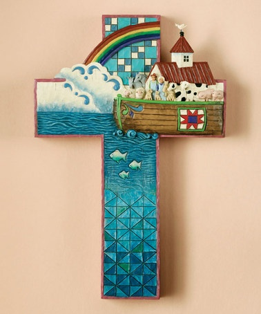 Take a look at this Noah's Ark Cross Wall Art by Jim Shore on #zulily today!