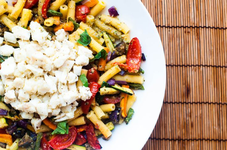 pasta fredda di mais e verdure arrostite