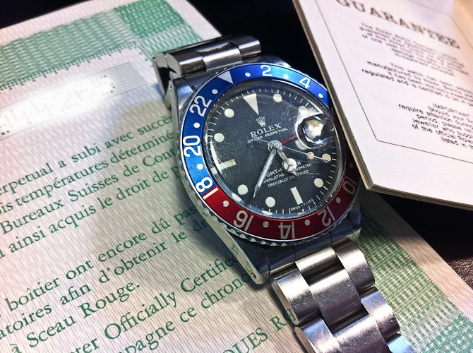 Rolex GMT Master ref. 1675 - with everything. Sold in Denmark, August 1973