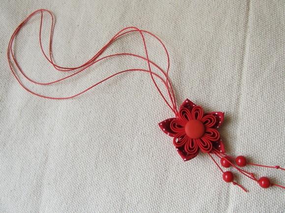 Fuxico necklace  Colar de fuxico