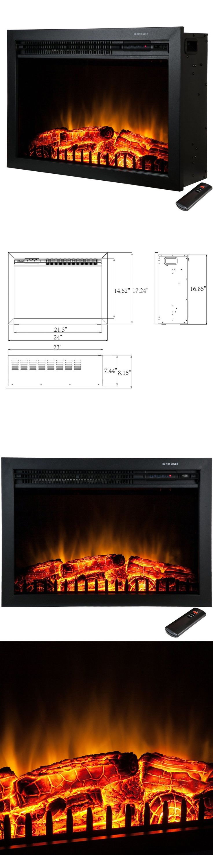 Quality craft electric fireplace - Fireplaces 175756 23 Free Standing Insert Heater 3d Flame Wood Log Electric Fireplace Y
