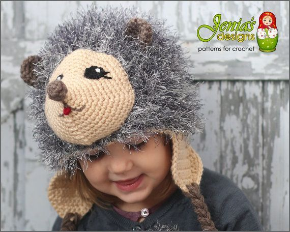CROCHET PATTERN  Hedgehog Animal Hat for Baby by JENIASdesigns