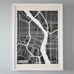 Portland PrintMint Green, Silkscreen Prints, Negative Spaces, Silk Screens, Colors, Prints Maps, Art Projects, Green Silk, Portland Maps