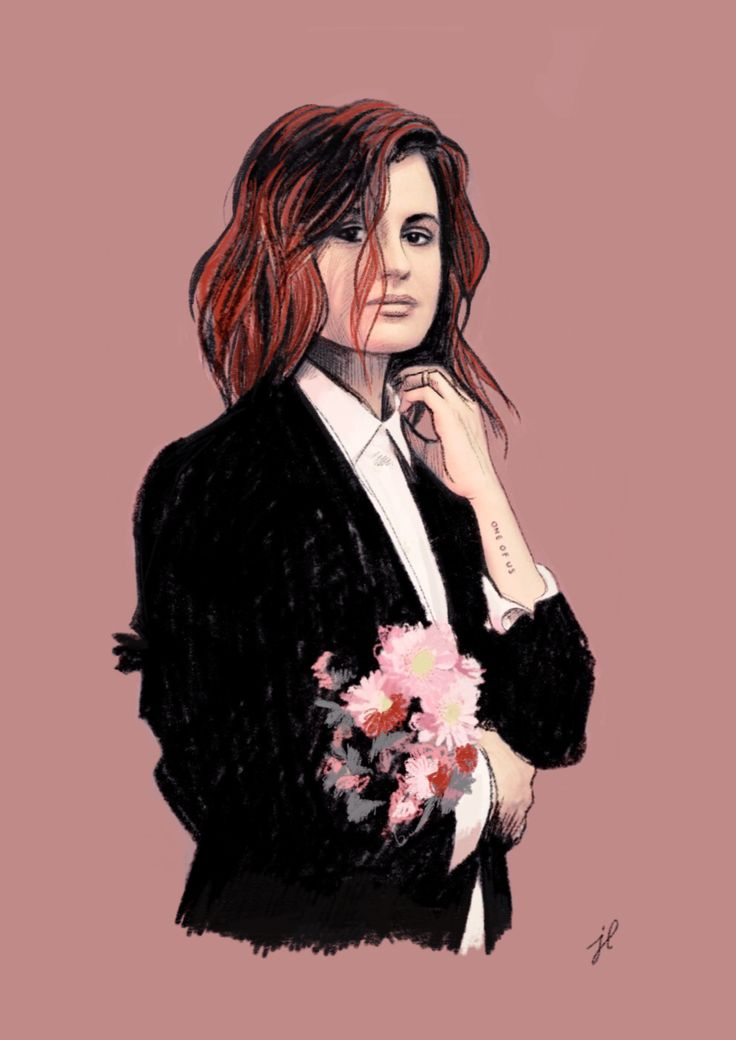 Illustration - portrait of artist Christine and the queens https://www.etsy.com/uk/listing/460627824/christine-and-the-queens?ref=shop_home_active_1