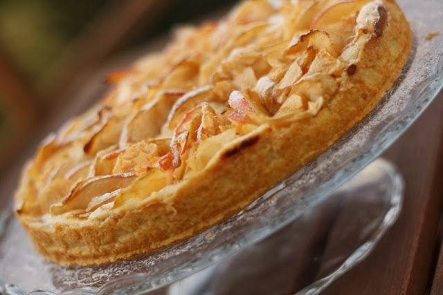 U nás na kopečku: tvarohový koláč s jablečnými lupínky...