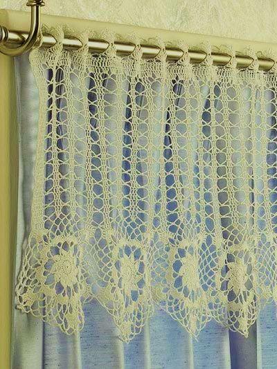 star border crochet curtain - free pattern