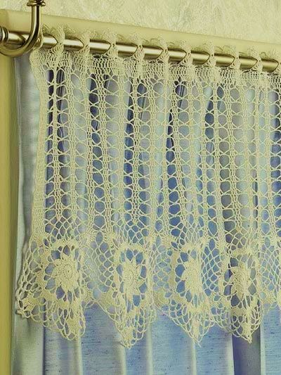 Free Knitting Patterns For Lace Curtains : 48 best images about Crochet Curtains/Curtain Tie Backs on Pinterest Filet ...