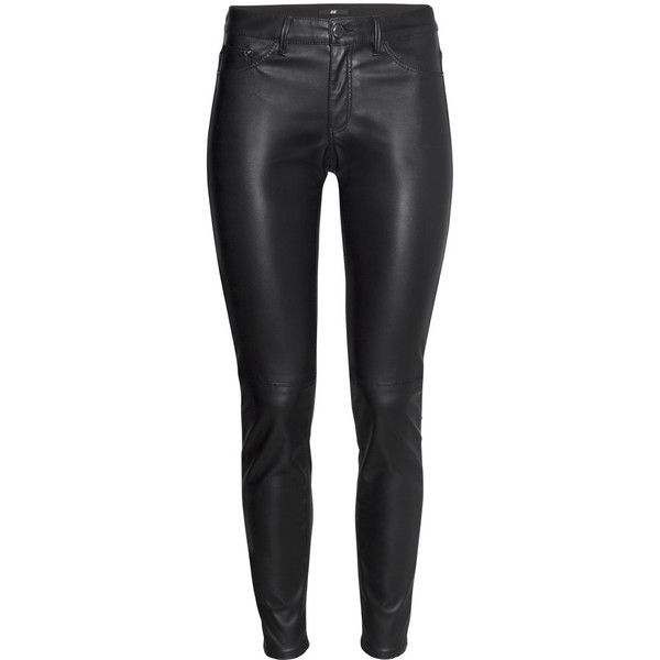 H&M Imitation leather trousers found on Polyvore