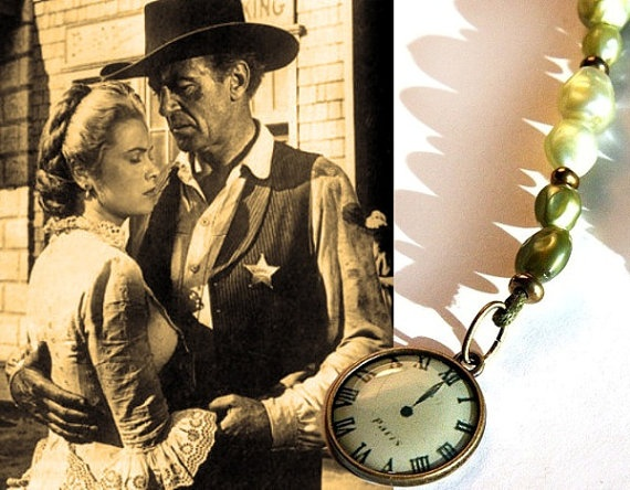 HIGH NOON Beaded Bookmark Faux Pearls in by KapKaJewelryDesign: Faux Pearls, Beads Bookmarks, Westerns Movie, Noon Beads, Grace Kelly, Team Games, Beads Books, Bookmarks Faux, Gary Cooper High Noon