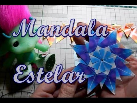 How to make a paper star origami Star Mandala Carla оригами звезда - YouTube                                                                                                                                                                                 Mais