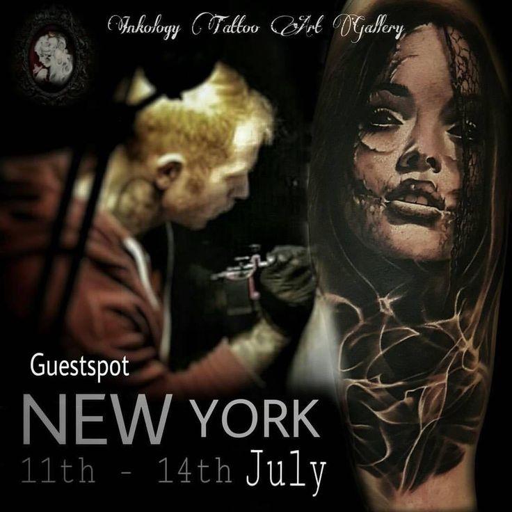 Mikko Inksanity guestspot @ inkology tattoo art gallery New York July 2016