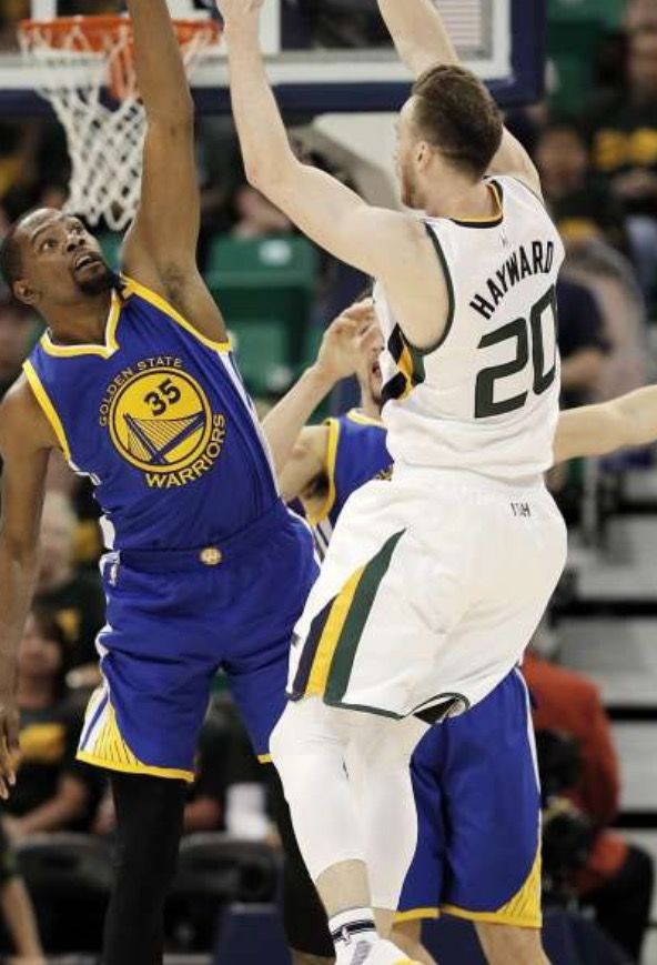 SALT LAKE CITY May 6, -- Kevin Durant dominated with 38 points, 13 rebounds to help Golden State Warriors beat the Utah Jazz 102-91 to take a 3-0 lead in their Western Conference semifinals series. Stephen Curry added 23 points.