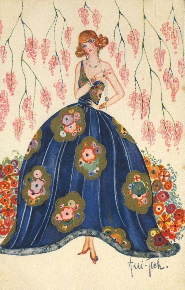 42 best art deco posters images on pinterest art nouveau for Art deco illustration