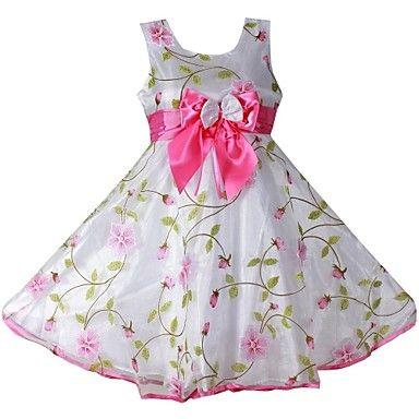 florales 3 capas de la muchacha del arco de la boda de dama de honor del vestido del desfile vestidos de princesa partido - MXN $ 473.31