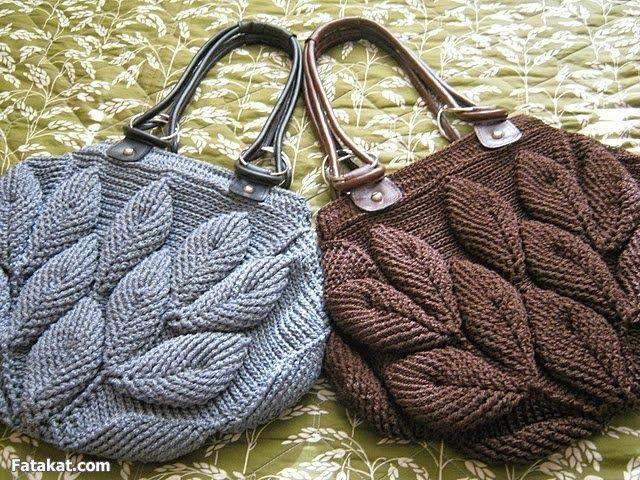 Bolso de hojas a crochet - Patròn - Entretejida
