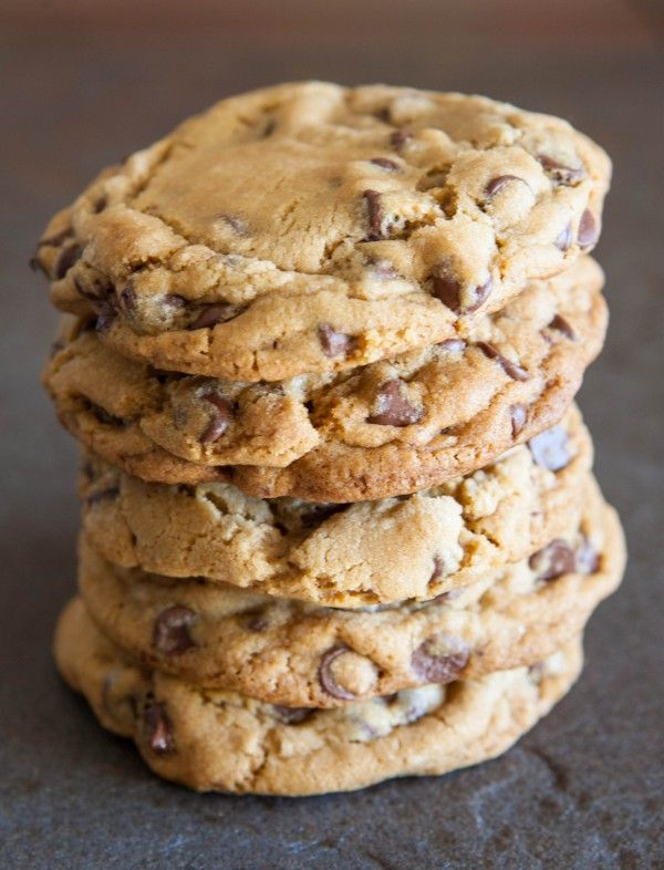 NY Times Chocolate Chip Cookies by EclecticRecipes.com #recipe